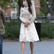 Famke Janssen Stopping to Watch Dogs in Washington Square Park