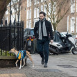 EXCLUSIVE: Kit Harrington pictured walking his dog in Islington , North London