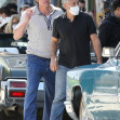 """*EXCLUSIVE* Ben Affleck is spotted with director George Clooney on the set of """"The Tender Bar"""" as Ben wraps up filming"""