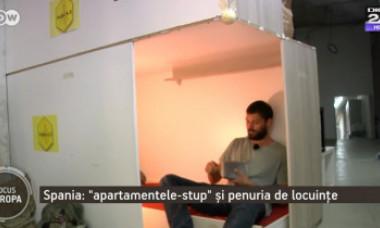 Soluții de criză. Cum se trăiește în locuințele-stup din Barcelona