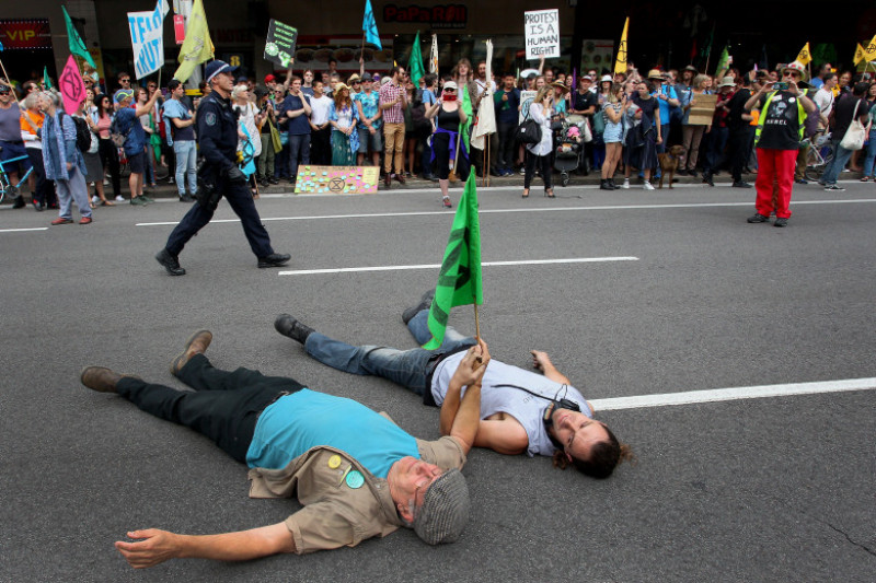 Australians Protest Climate Change As Part Of Global Rebellion
