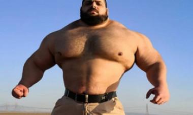 """Cum a devenit, de fapt, celebru luptătorul poreclit """"Hulk iranian"""". Competiția în care s-a înscris din 2020"""