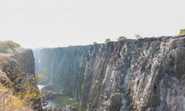 Imagini incredibile. Celebra cascadă Victoria aproape a secat