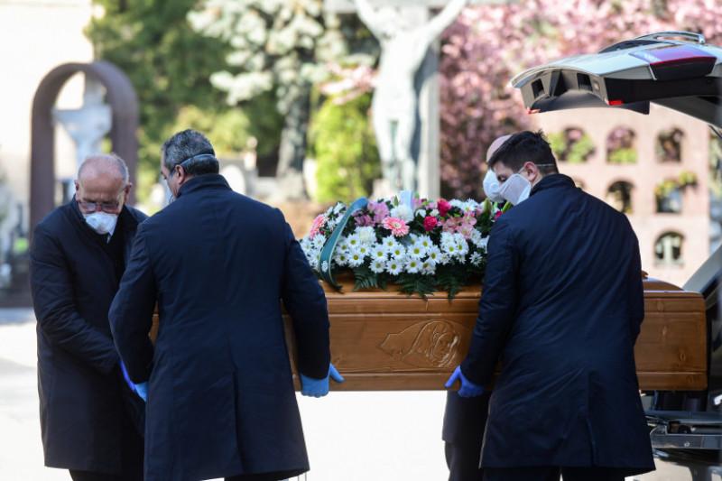 înmormântare Bergamo, Lombardia, Italia, noul coronavirus