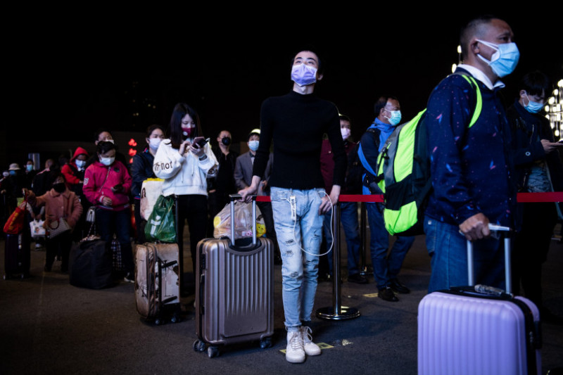First Outbound Train After Wuhan Reopens
