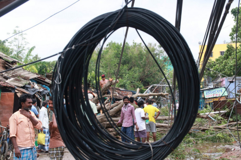 India: Damaged after cyclone Amphan