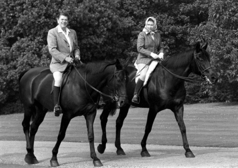 Queen Elizabeth II riding