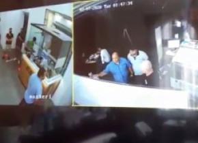 Imagini de pe camerele de supraveghere cu scandalul provocat de cei 2 deputați. După ce le-au văzut, polițiștii i-au amendat din nou