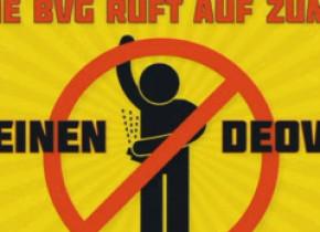 Campanie inedită în mijloacele de transport din Berlin: Nu vă mai dați cu deodorant! Poate așa vă puneți masca!