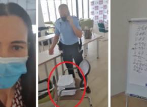 VIDEO | Clotilde Armand acuză o tentativă de fraudă a alegerilor la Sectorul 1. Poliția a intervenit, o persoană dusă la audieri