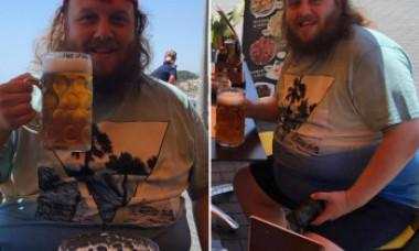 După ce medicii i-au mai dat 10 ani de viață, a renunțat la cele 12 halbe de bere pe zi și a slăbit 50 kg. Cum arată acum