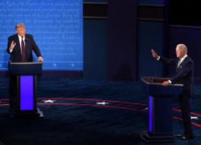 """Prima dezbatere Trump-Biden. Biden: """"Nu poți să scoți un cuvânt coerent de la clovnul ăsta!"""". Trump: """"Nu e nimic deștept la tine, Joe!"""""""