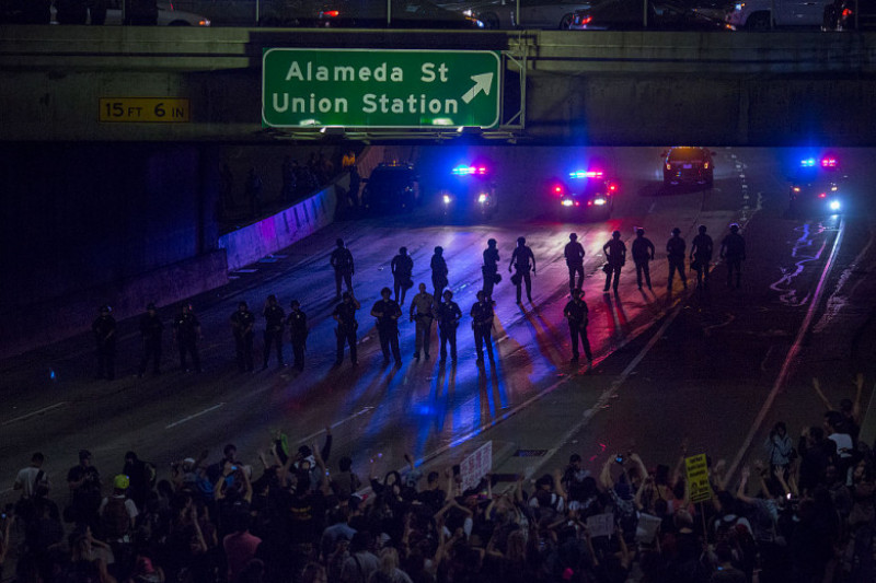 Protests Erupt Around Country Day After Donald Trump Elected President