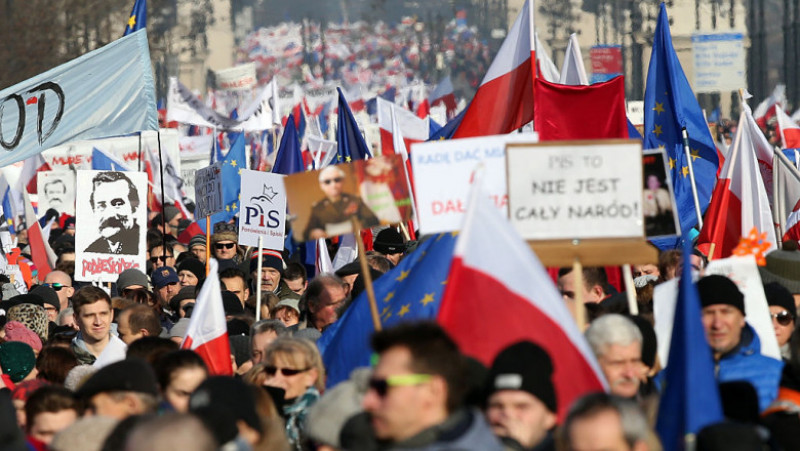 <> on February 27, 2016 in Warsaw, Poland.