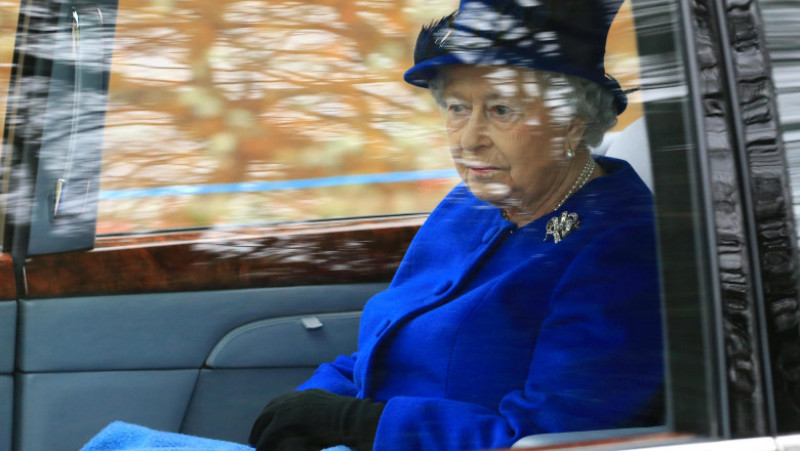 The Queen and members of The Royal Family Attend St Mary Magdalene Church In Sandringham