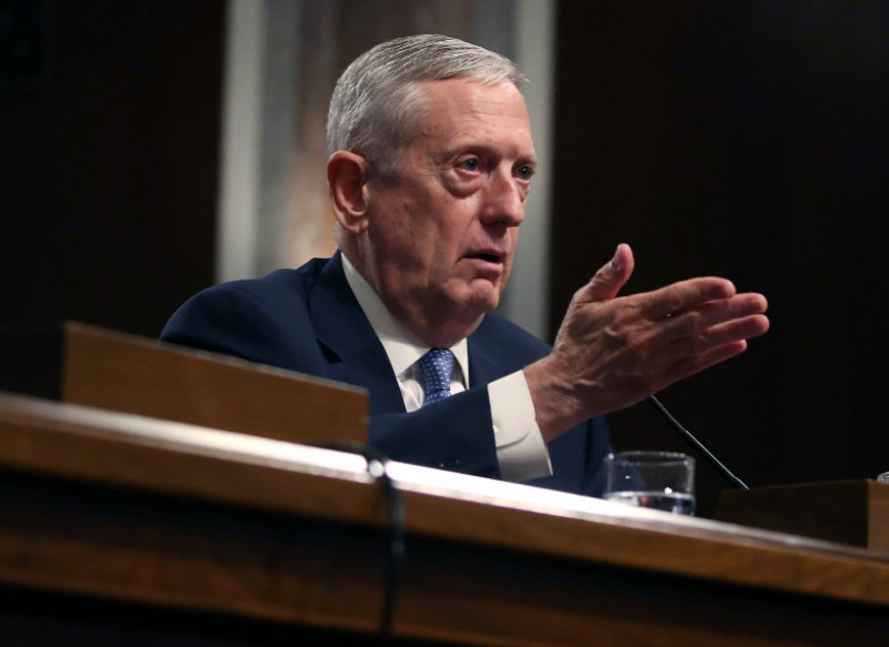 Senate Committee Holds Confirmation Hearing For Gen. James Mattis To Become Defense Secretary