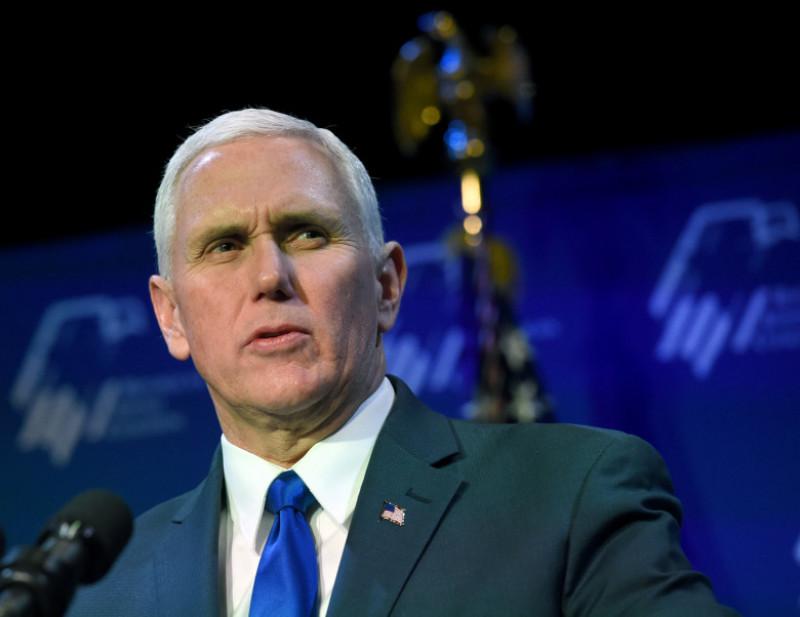 Mike Pence Addresses Republican Jewish Coalition Meeting In Las Vegas