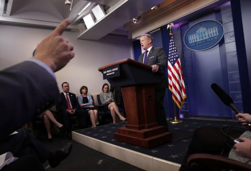 White House Press Secretary Sean Spicer Holds Daily Press Briefing