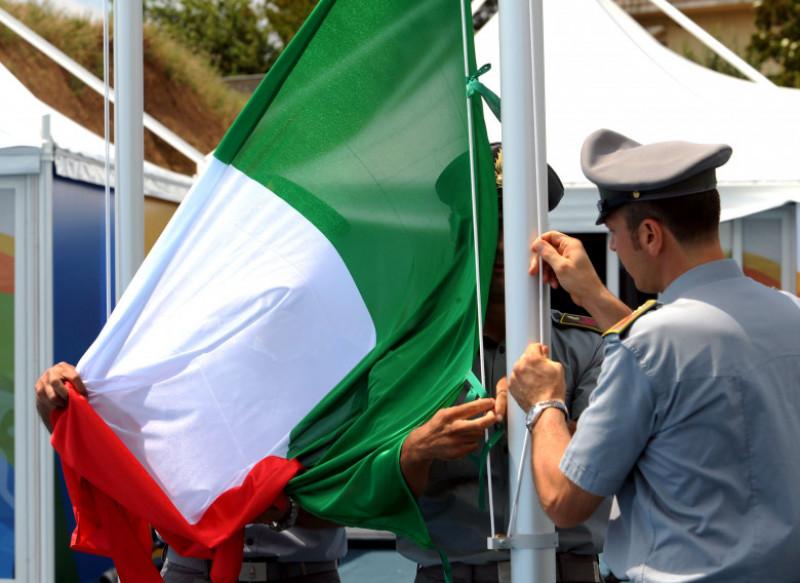 2009 Mediterranean Games - The Italian Flag Raising Ceremony