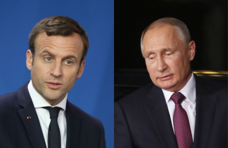 colaj macron putin getty