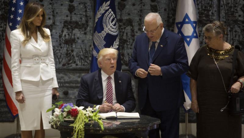 US President Donald Trump Meets Israeli President Reuven Rivlin