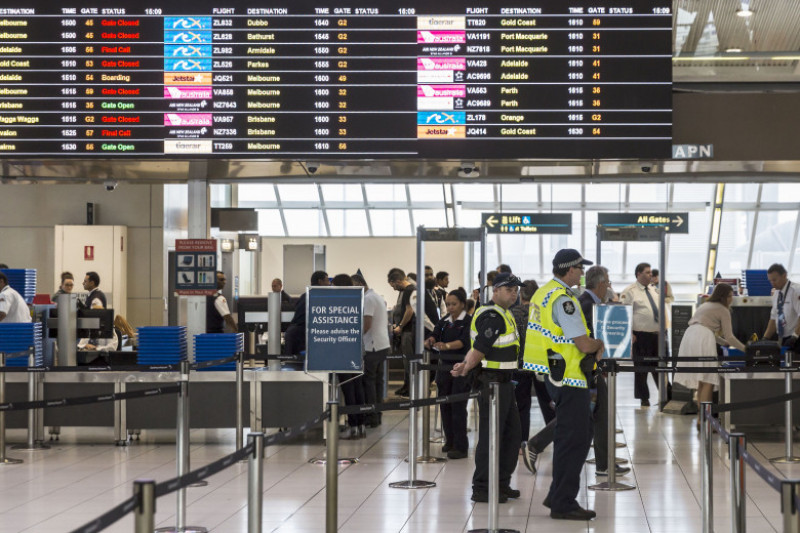 Airport Security Increased Following Terror Raids In Sydney
