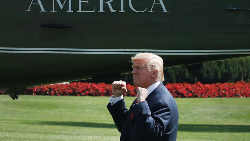 President Trump Departs White House For Bedminster, NJ Vacation