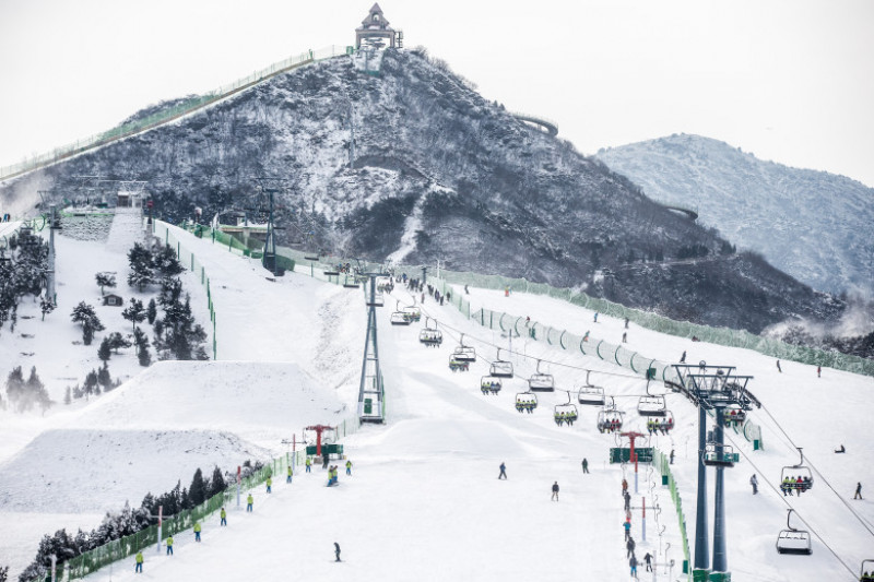 New Ski Resort Attracts Tourists After Heavy Snow In Beijing