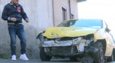 Maşina unui taximetrist, distrusă de o poliţistă. Povestea unui accident petrecut la 90 km/oră