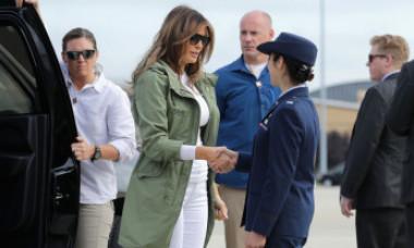 Mesajul controversat de pe jacheta purtată de Melania Trump