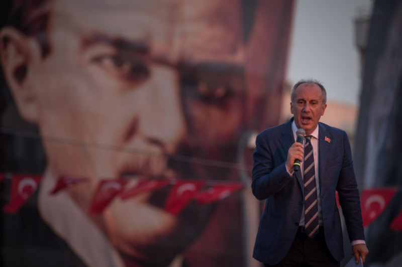Turkey's Republican People's Party Candidate, Muharrem Ince, Holds Campaign Rally