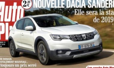 """Prima imagine cu noua Dacia Sandero, publicată de presa franceză: """"Va fi starul anului 2019"""""""