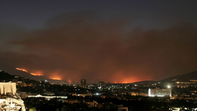 Wildfires Rage In Athens
