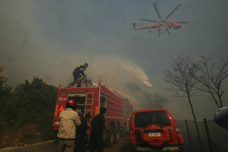 State of Emergency Declared As Wildfires Burn In Rural Athens