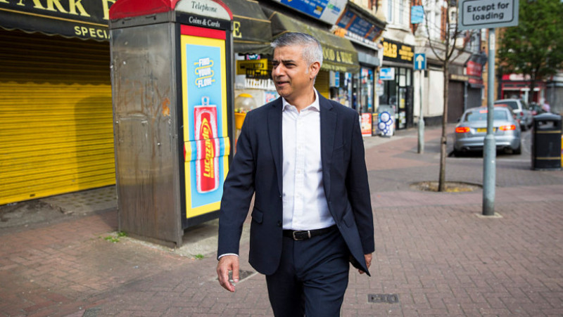 Newly-elected London Mayor Leaves Home For First Day At City Hall