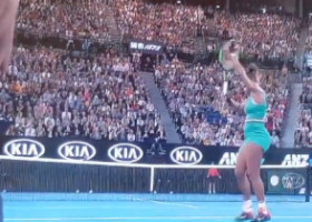 VIDEO. Lovitură ireală a Simonei Halep, aplaudată de Serena Williams