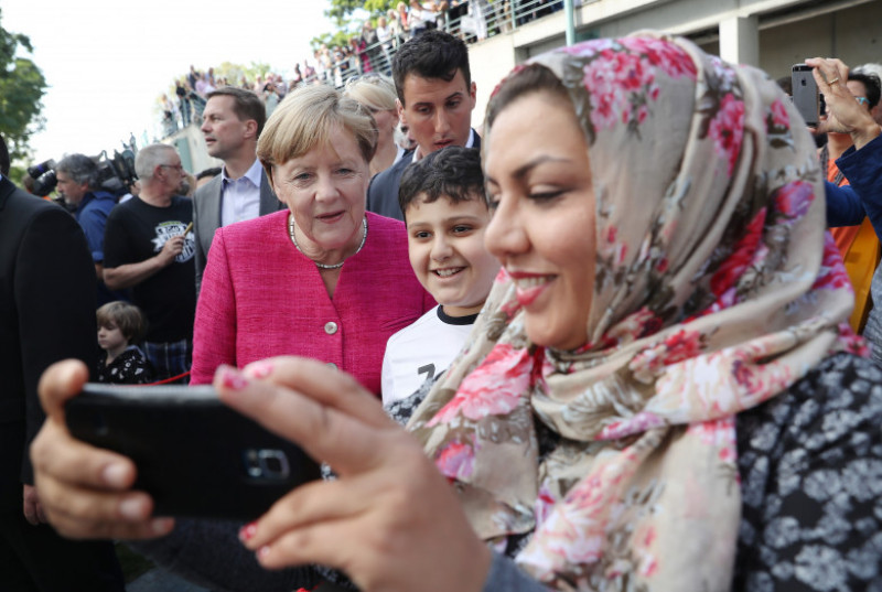 Merkel Hosts Open-House Day At Chancellery