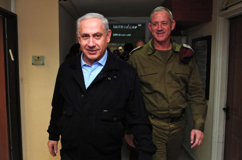 Netanyahu Visits IDF central command base