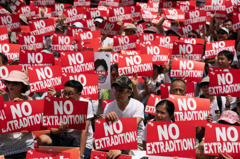 Hong Kongers Protest Over China Extradition Law