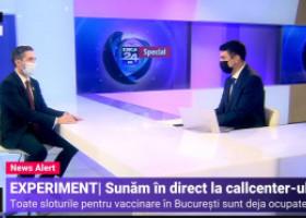 Experiment Digi24. În București nu mai sunt locuri pentru vaccinare