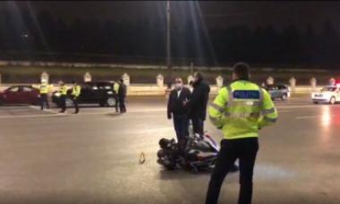 VIDEO. Un polițist de Rutieră a fost spulberat în fața Palatului Parlamentului