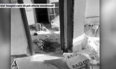 VIDEO. Primele imagini din apartamentul din Onești în care au fost uciși cei doi bărbați