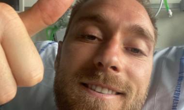 Christian Eriksen, selfie de pe patul de spital. Ce va face în continuare