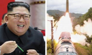 Trenul Apocalipsei lui Kim: Coreea de Nord a făcut publice imagini cu noua garnitură feroviară care lansează rachete nucleare