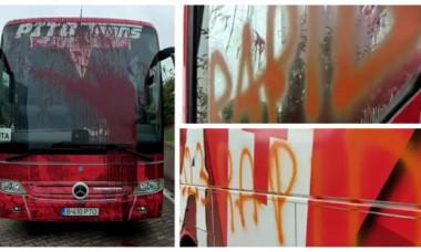 Autocarul echipei UTA, vandalizat după victoria cu Dinamo! Imagini din Ștefan cel Mare + Poliția a fost sesizată