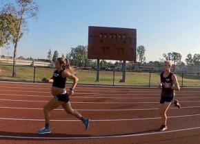 """Însărcinată în 9 luni a câştigat un pariu """"nebun""""! Timpul extraordinar scos într-o cursă de 1,6 kilometri"""