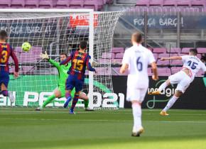 """Federico Valverde, primul gol în """"El Clasico""""! Execuția care nu i-a lăsat speranțe lui Neto"""
