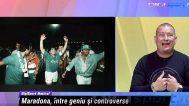 Momente unice în studioul Digi Sport Matinal. Cum l-a descris Ionuţ Chirilă pe Diego Maradona