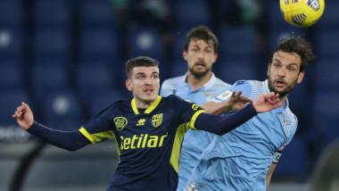 Mihăilă, primul gol pentru Parma! A înscris în meciul cu Lazio! Românul, titular în premieră, a avut și o bară