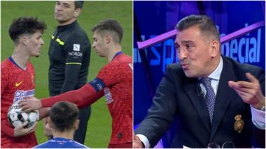 """""""Măi, ce faci? Poftim?"""" Ce spune Ilie Dumitrescu despre momentul în care Tănase i-a luat mingea din mână lui Man, la penalty"""